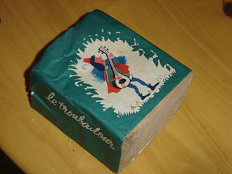 "Toilet paper - ""Le Troubadour"" (French)—1960s package of toilet paper"
