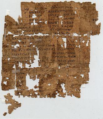 Papyrus 1 - Recto.
