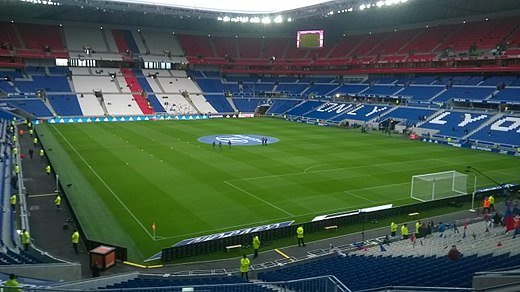 The Parc Olympique Lyonnais in Decines-Charpieu hosted the final. Parc OL.jpg