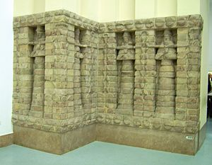 Vorderasiatisches Museum Berlin - Part of the front of Karaindash's temple to Inanna in Uruk.