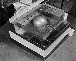 Pit (nuclear weapon) core of an implosion weapon