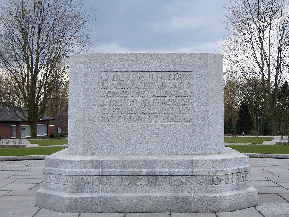 Canadian Memorial at Passchendaele