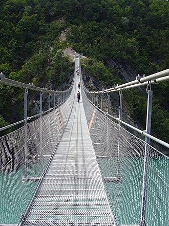Avignonet - Footbridge over the Drac