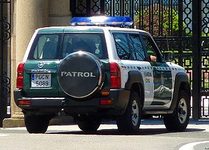 Civil Guard (Spain) - A Nissan Patrol GR of the Guardia Civil.