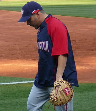 Rawlings (company) - Here is Paul Lo Duca, a Washington Nationals player, wearing a Rawlings catcher mitt.