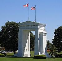 Peace Arch, U.S.-Canada border