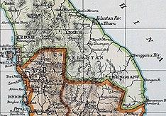 Карта полуострова Малай 1899 года