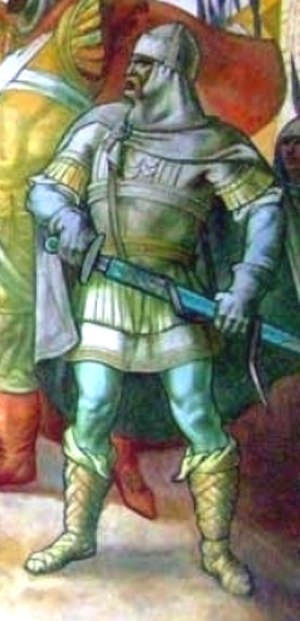 Peter II of Bulgaria - Detail of the painting ″The uprising of Asen and Petеr″, Georgi Bogdanov, 1961