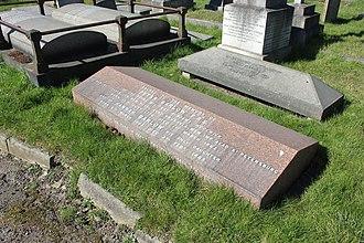Charlton cemetery - Peter Barlow FRS - gravestone in Charlton cemetery, London SE7