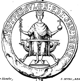 Peter II of Aragon - Engraving of a sealing of Peter II, ca 1196 to 1213