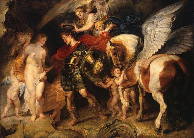 Персей освобождает Андромеду. Около 1622, масло, холст, 99,5×139см. Государственный Эрмитаж