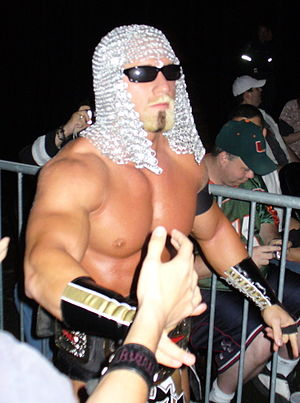 "Petey Williams - Williams as ""Little Petey Pump"" during a show in London in 2008"