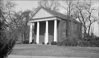 Greek life at the University of Georgia - A historic picture of Phi Kappa Hall