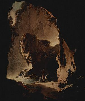 Philipp Peter Roos - Grotto, the crag looks like an animal.