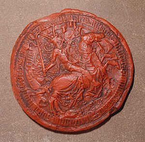 Philip of Hachberg-Sausenberg - Seal of Margrave Philipp von Hachberg-Sausenberg (1490) in the museum of Rötteln Castle.