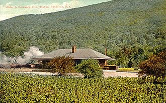 Phoenicia Railroad Station - An old postcard of the station from its peak days