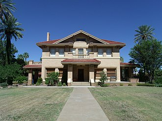National Register of Historic Places listings in Phoenix, Arizona - Image: Phoenix Salim Ackel House 1920