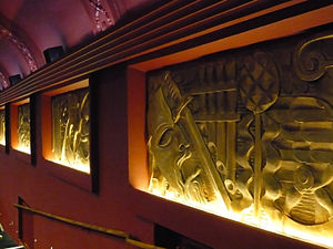 Phoenix Cinema - Auditorium art deco panels