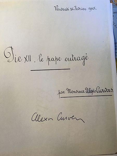 Pie XII, le pape outragé vendredi 26 février 1965