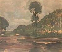 Piet Mondriaan - Isolated tree on the Gein with gray sky - A457 - Piet Mondrian, catalogue raisonné.jpg