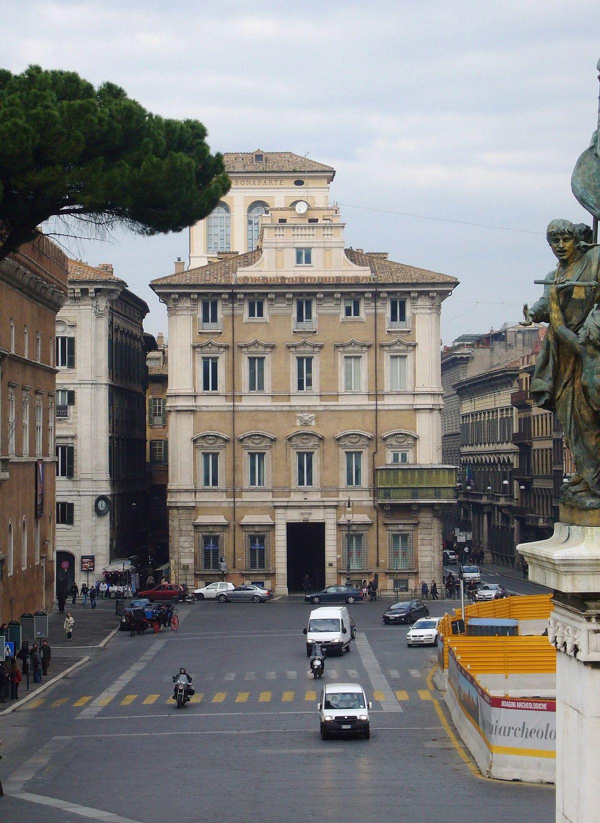Palazzo bonaparte roma wikipedia - Architetto palazzo congressi roma ...
