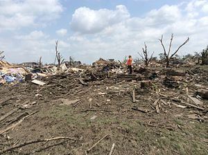 Tornado outbreak of June 16–18, 2014 - EF4 damage in a residential area of Pilger.