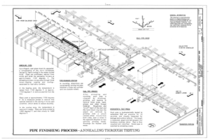 Pipe Finishing Process - Annealing Through Testing - United States Pipe and Foundry Company Plant, 2023 St. Louis Avenue at I-20-59, Bessemer, Jefferson County, AL HAER ALA,37-BES,6- (sheet 7 of 16).png
