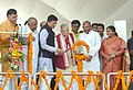 Piyush Goyal lighting the lamp at ground breaking ceremony and launch of DDUGJYIPDS, at NUUPL Ghatampur, in Kanpur, Uttar Pradesh.jpg