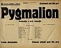 Plakat za predstavo Pygmalion v Narodnem gledališču v Mariboru 15. oktobra 1939.jpg