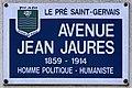 Plaque Avenue Jean Jaurès - Le Pré-Saint-Gervais (FR93) - 2021-04-27 - 1.jpg