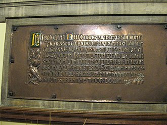 Agnes and Margaret Smith - A plaque commemorating the Smith Sisters in Westminster College, Cambridge
