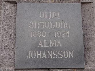 Alma Johansson - Plaque at Tsitsernakaberd for Alma Johansson (Yerevan, Armenia)
