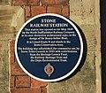 Plaque on Stone Railway Station - geograph.org.uk - 1100194.jpg