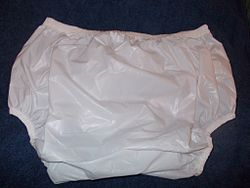 Plastic Pants suitable for nocturnal enuresis in larger child or small adult.JPG