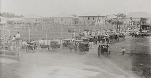 Plaza During Bicycle Races 1901 Bacolod, Western Negros