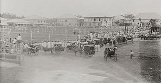 Bacolod - Bacolod Public Plaza during bicycle races in 1901.