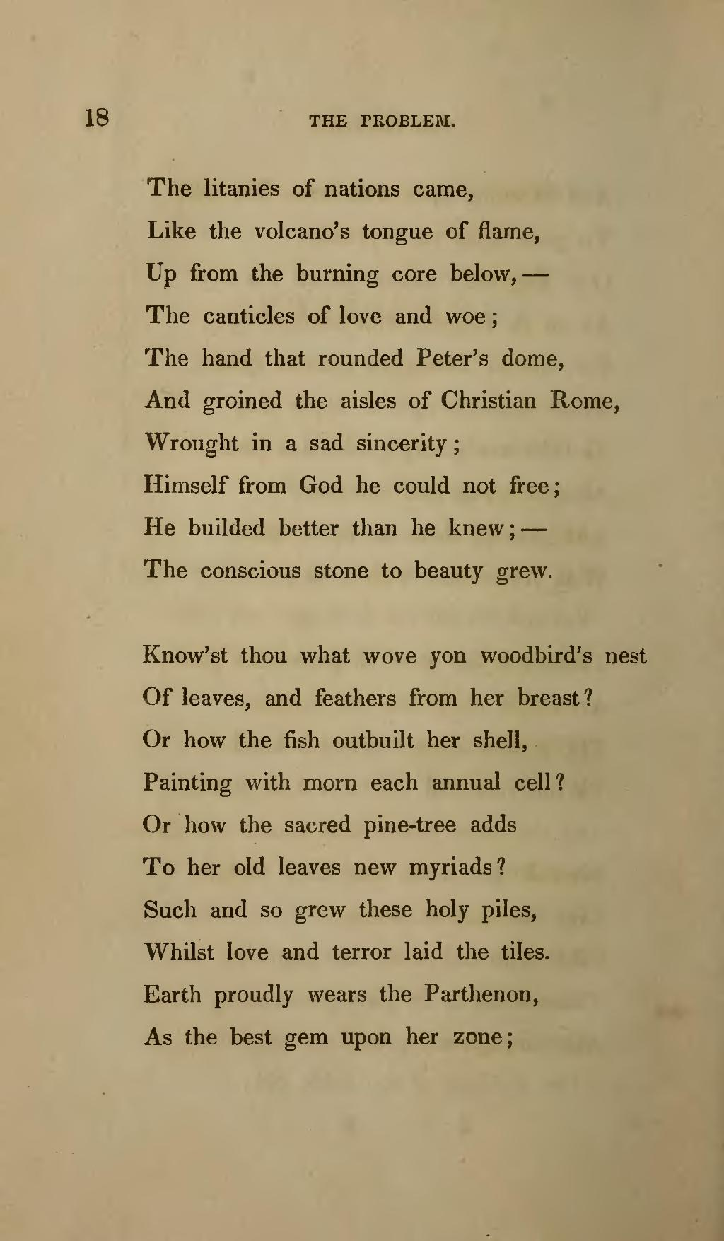the poem by the painter makes emerson
