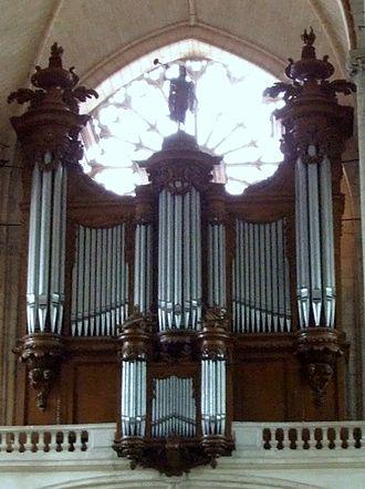 Poitiers Cathedral - The organ of the Cathédrale Saint-Pierre de Poitiers, built by François-Henri Clicquot and Claude-François Clicquot