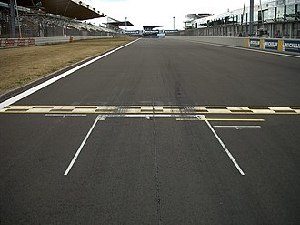 Pole position - Pole position markings at the Nürburgring in Germany
