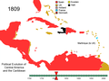 Political Evolution of Central America and the Caribbean 1809.png