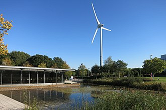 Green Park Business Park - Green Park wind turbine viewed from Lime Square