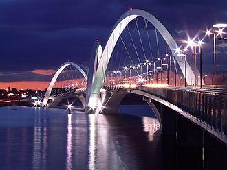 Juscelino Kubitschek bridge - JK Bridge at dusk