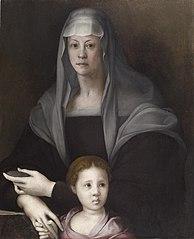Portrait of Maria Salviati de' Medici with Giulia de' Medici