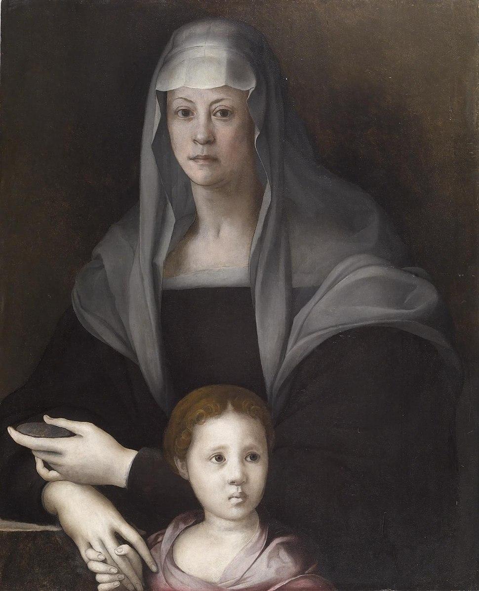 Pontormo - Portrait of Maria Salviati de' Medici with Giulia de' Medici - Walters 37596