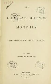 Popular Science Monthly Volume 30.djvu