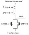 Porte NOR fabriquée avec des transistors. 02.png