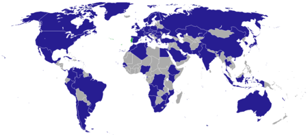 List Of Diplomatic Missions Of Portugal Wikipedia - Portugal map wikipedia