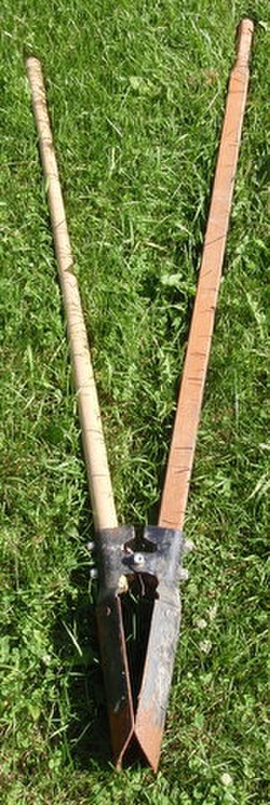 Post hole digger - Closed post hole digger
