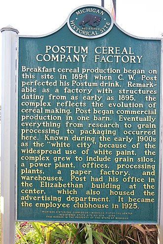 Post Consumer Brands - Postum Cereal Company Factory