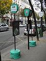 Poteaux provisoires, RATP bus 54.jpg